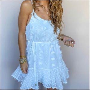 entro White textured dress-NWT